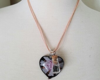 Midnight Bloom Pendant Necklace