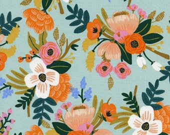 PRESALE: Lively Floral (in Mint) from Amalfi Collection by Rifle Paper Co. for Cotton + Steel