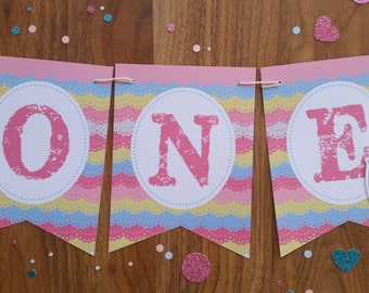 Elephant ONE High Chair 1st First Birthday Custom Made Smash Cake Photo Shoot Bunting Banner Birthday Decor