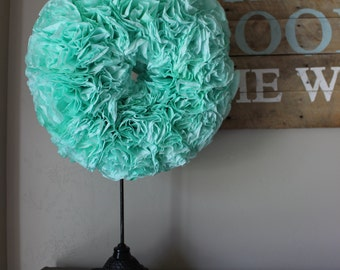 Custom Colored Coffee Filter Wreath - 20""
