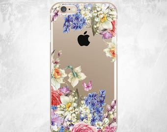 Sunflower iPhone 8 Case Clear iPhone 6s Case Floral iPhone 7 Plus Case iPhone Case Clear iPhone SE Case Flowers iPhone 6s Case iPhone Case