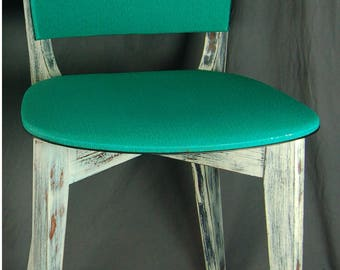 VINTAGE patina worn SHABBY industrial loft style chairs