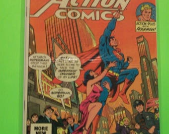 Superman Action Comics No. 520 Superman Has Rival For Lois Lane VG-VF Condition Aquaman Backup Story 1981 DC Comics Vintage Comic Book