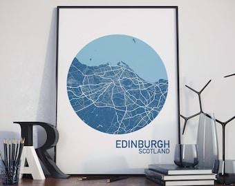 Edinburgh, Scotland City Map Print