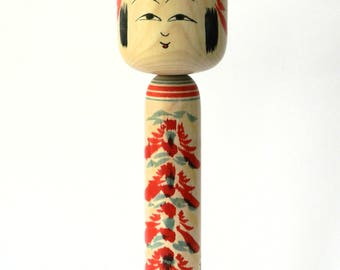 traditional kokeshi signed but unreadable 31cms/12inches pretty look