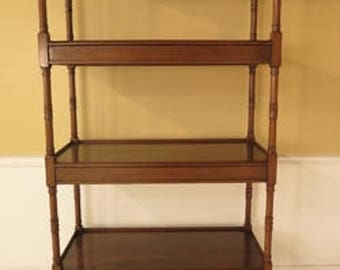 28818E: Custom Made William IV Walnut 4 Tier Etagere Book Shelf