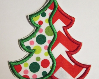 Christmas Tree Iron On Appliques  READY TO SHIP in 3 Business Days