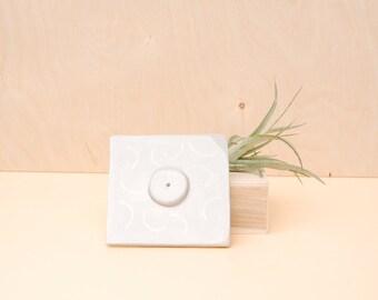 Cloud Grey Cube Incense Holder / Modern Home Decor / Modern Incense Burner