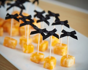 Food Picks for Stock the Bar Party.  Handcrafted in 2-5 Business Days.  Bow Picks.  Appetizer Picks 20CT.