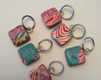 Polymer Clay Bead Stitch Markers