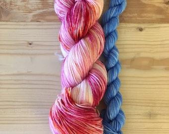 Sock Set- Aurora -Sturdy Sock Hand Dyed  Sock Yarn Superwash Merino Nylon
