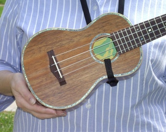 Ukulele Strap - UKE THONG - Adjustable - 4 Colors - Free Uke Thong Sticker *Buy 3, Get 4 - Free Uke On Board Sticker