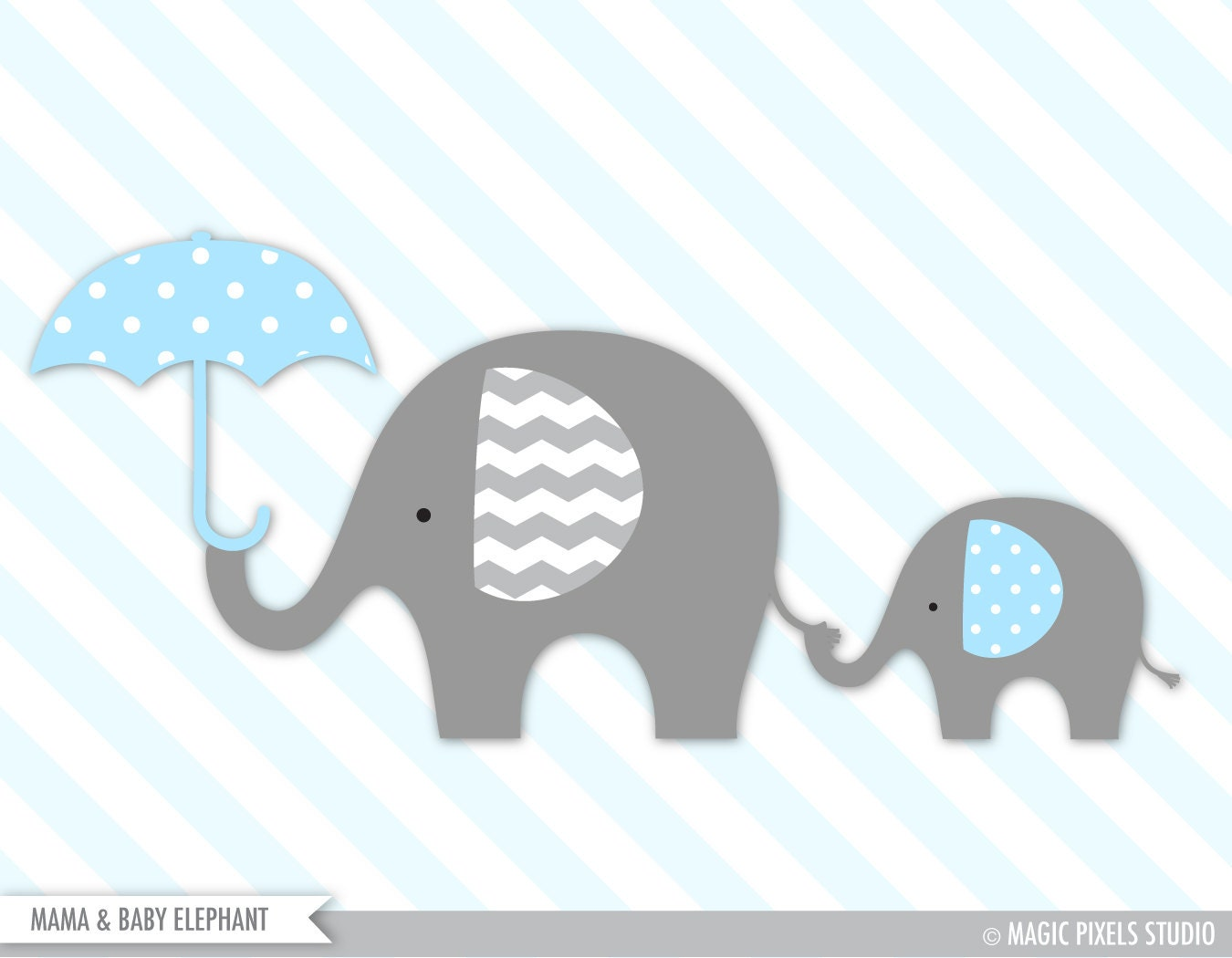 Baby Elephant Clip Art Baby Shower Elephant clipart, Baby...