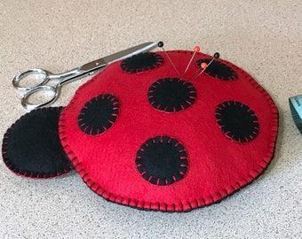 Wool Felt Ladybug Pincushion