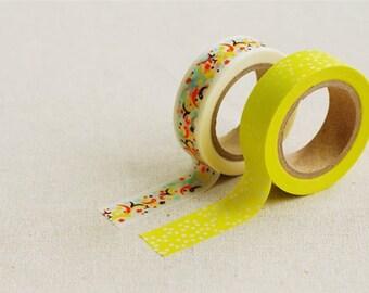 2 Washi Tapes / Masking Tape / Scrapbooking / Decoration / Planner Stickers / Planner Tape / Bullet Journal / Craft Supplies / DIY