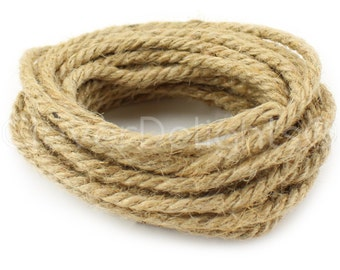 "15 Feet - 3/16"" Natural Jute Rope - 2 Ply - Premium 100% Natural Jute Rope - Eco-Friendly Biodegradable - Bulk Wholesale Heavy Duty Twine"