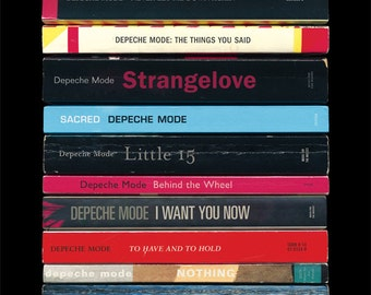 Depeche Mode Music for the Masses Poster Print Albums As Books