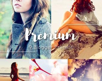 Premium 9 Lightroom Presets Pack / Moody Blogging Filters / Instagram Portrait / Travel Food Film / Wedding  Family  Children Newborn Sunny