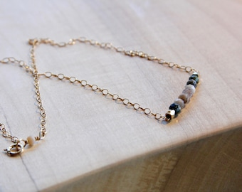 Earthy Bead Strand Necklace