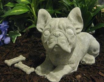 Concrete Boston Terrier Statue