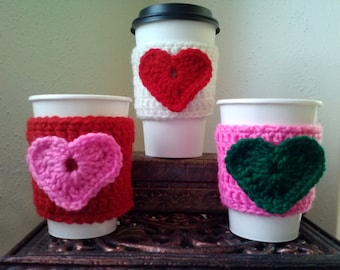 Happy Heart Coffee Cozy