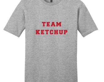 Team Ketchup - Funny Food Baseball T-Shirt