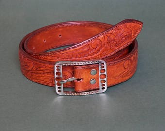 Mens belt leather