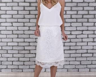 Wedding Dress Separates, Bridal Separates Top, Spaghetti Strap Bridal Wedding Top, Boho Wedding Top, Bohemian Wedding Top