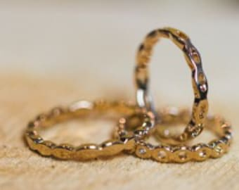 Rings in plated gold