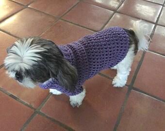 Crochet Dog Sweater,Dog Coat,Dog Sweater,Made To Order,Medium Dog Coat,Chihuahua Sweater,Yorkie Coat,Dog Sweater,Dog Coat,Girl Dog,Boy Dog