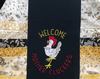 Embroidered Thick Flour Sack Towel