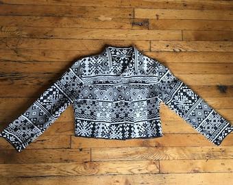 Ladies vintage woven jacket