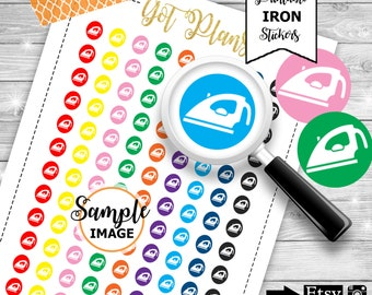 Iron Icon Stickers, Icon Planner Stickers, Functional Stickers, Stickers For Planners, Iron Planner Stickers, Printable Planner Stickers