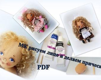 PDF Sewing Tutorial Faсe Small Doll doll sewing pattern, pdf doll, sewing tutorial