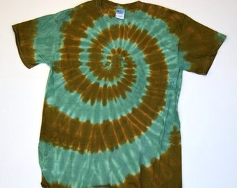 Marshlands ~ Spiral Tie Dye T-Shirt (Gildan Ultra Cotton Size M) (One of a Kind)