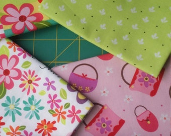 Girly Girl by Dana Brooks for Henry Glass 5 fat quarters