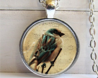Photo Jewelry, Bird Necklace, Bird Art Pendant, Bird Lovers Gift, Bird Jewelry
