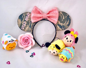 Pink Toddler USAF BRAT Minnie Ears