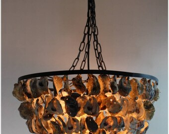 oyster capiz chandelier make to chandeliers shell how creative diy