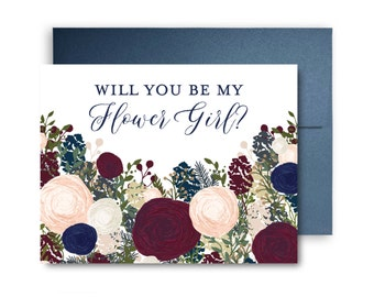 Will You Be My Bridesmaid Card Bridesmaid Maid of Honor Gift Will You Be My Maid of Honor Matron of Honor Brides Man Flower Girl #CL137