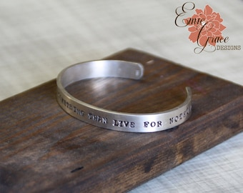 Personalized Cuff Bracelet, Thick Sterling Silver Cuff Bracelet, Custom Message, Hand Stamped Bangle