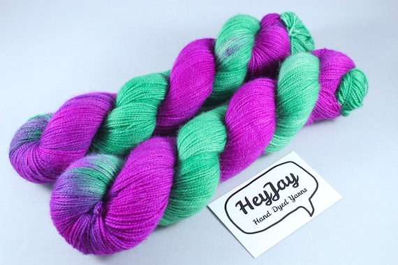 Hand Dyed Ultimate Sock Yarn, BFL High Twist - Cherry Tree