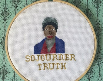 Sojourner Truth Cross Stitch Hoop