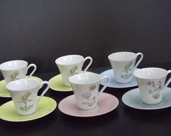Vintage, Set of Zeh Scheizer teacups