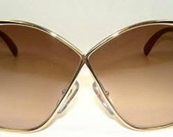 Christian Dior France Butterfly Oversized vintage sunglasses, 70s sunglasses in original Dior case