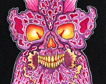Skull Orchid II- original painting