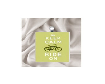 Pendant Necklace Keep Calm and Ride On