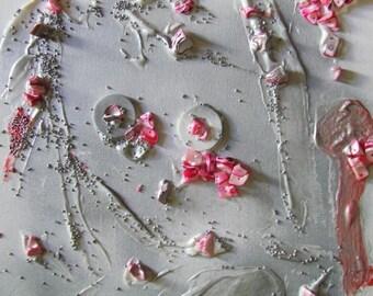 candy floss 1 mixed media wall art on canvas