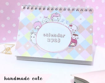 Calendar 2018, 2018 Desk Calendar, Cute Calendar, Gift for Her, Gift for Coworker, Organize, Table Calendar, Calendar Planner