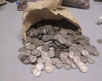 Full Date Buffalo Nickels 1913-1938 10 full date nickels